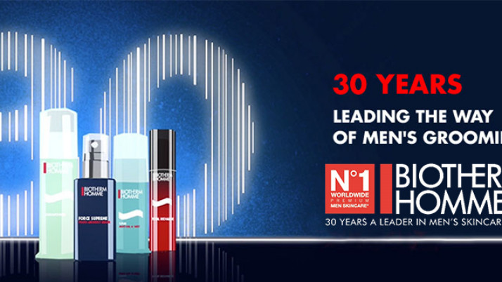 30 years of No.1 men's skincare -Biotherm